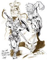 Lion-O vs He-man by mistermoster