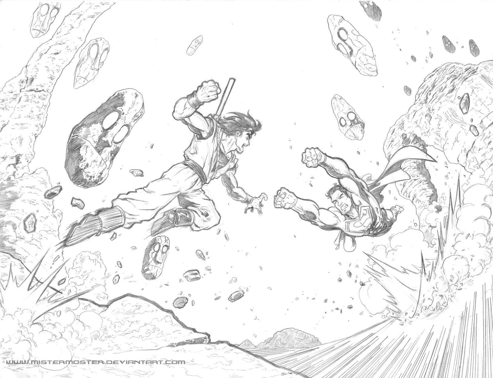 Superman vs Goku p05 by mistermoster on DeviantArt