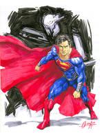 Man of Steel marker sketch