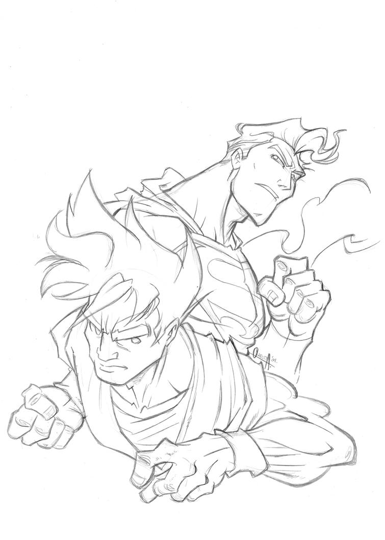 superman vs Goku cover-part 1 by mistermoster on DeviantArt