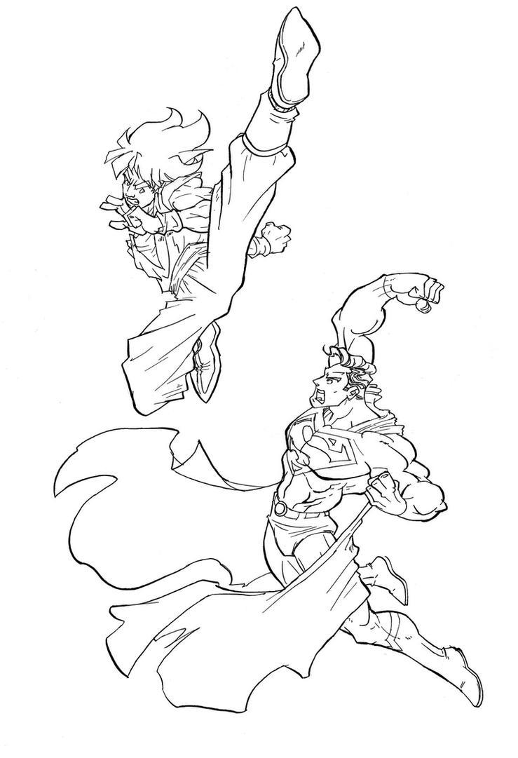 superman vs goku cover 2 by mistermoster on DeviantArt