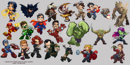 Chibi heroes!