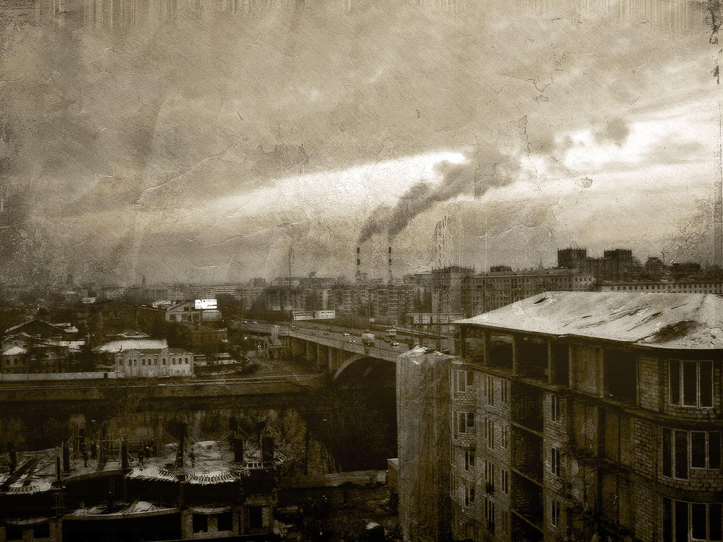 Moscow cityscape retro edition by firework