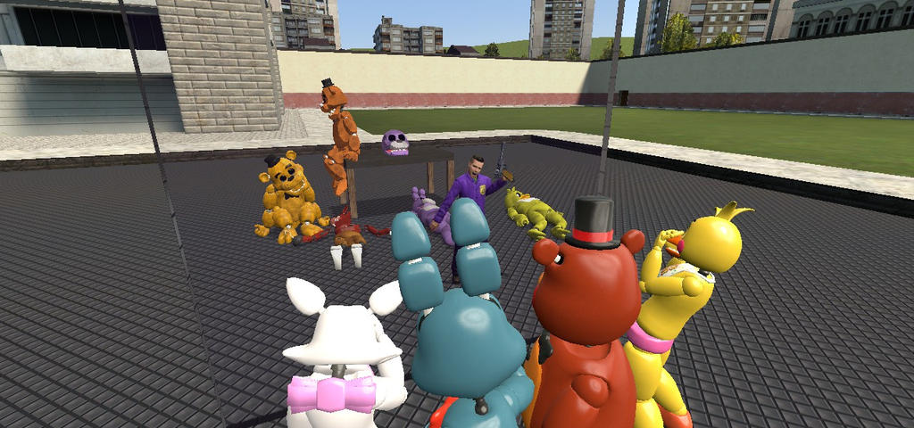 Fnaf2's gang sees what will happen in the future by