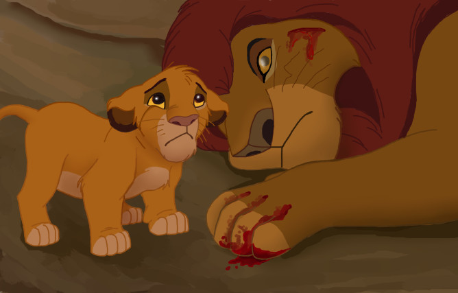 Image result for lion king mufasa death