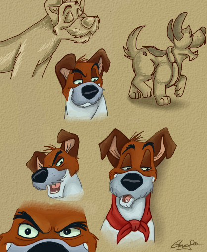 Disney Sketches: Dodger by NostalgicChills