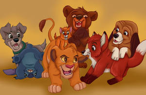 Disney Animals - Boisterous Boys by NostalgicChills