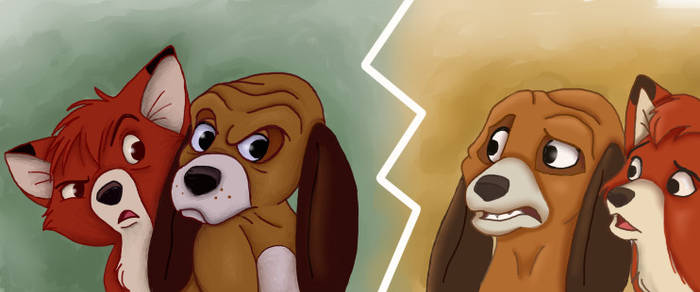 Original vs. Midquel - The Fox And The Hound by NostalgicChills