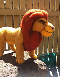 Mufasa - Needle-Felting Sculpture FINALLY FINISHED