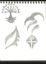 MtG sketches by AlisterThatchel