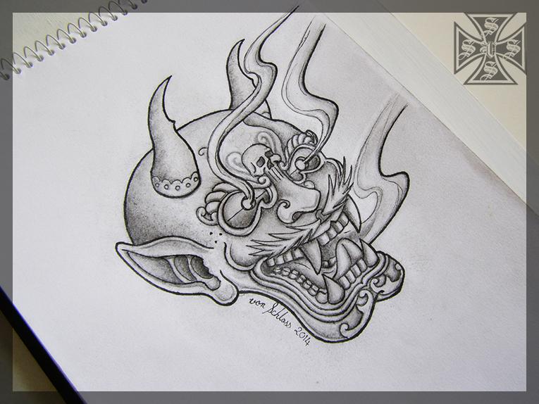 Shinto Kami Mask by vonSchloss