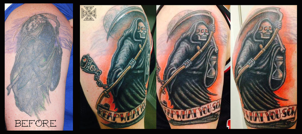 Grim Reaper Tattoo by vonSchloss