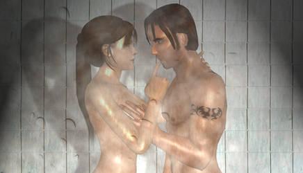 Shower Scene by hanashimashou