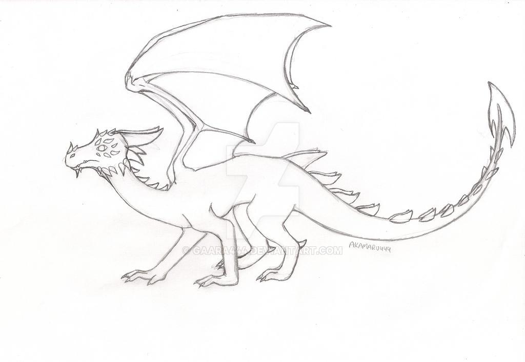 Dragon para Jorge [PENCIL] by gaara444