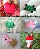 2008 Birthday Plushies: Part 1 by aquarius-galuxy