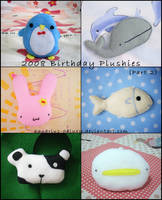 2008 Birthday Plushies: Part 2 by aquarius-galuxy