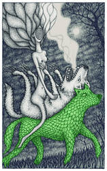 Loup vert ou l'amisanthrope by lingouf