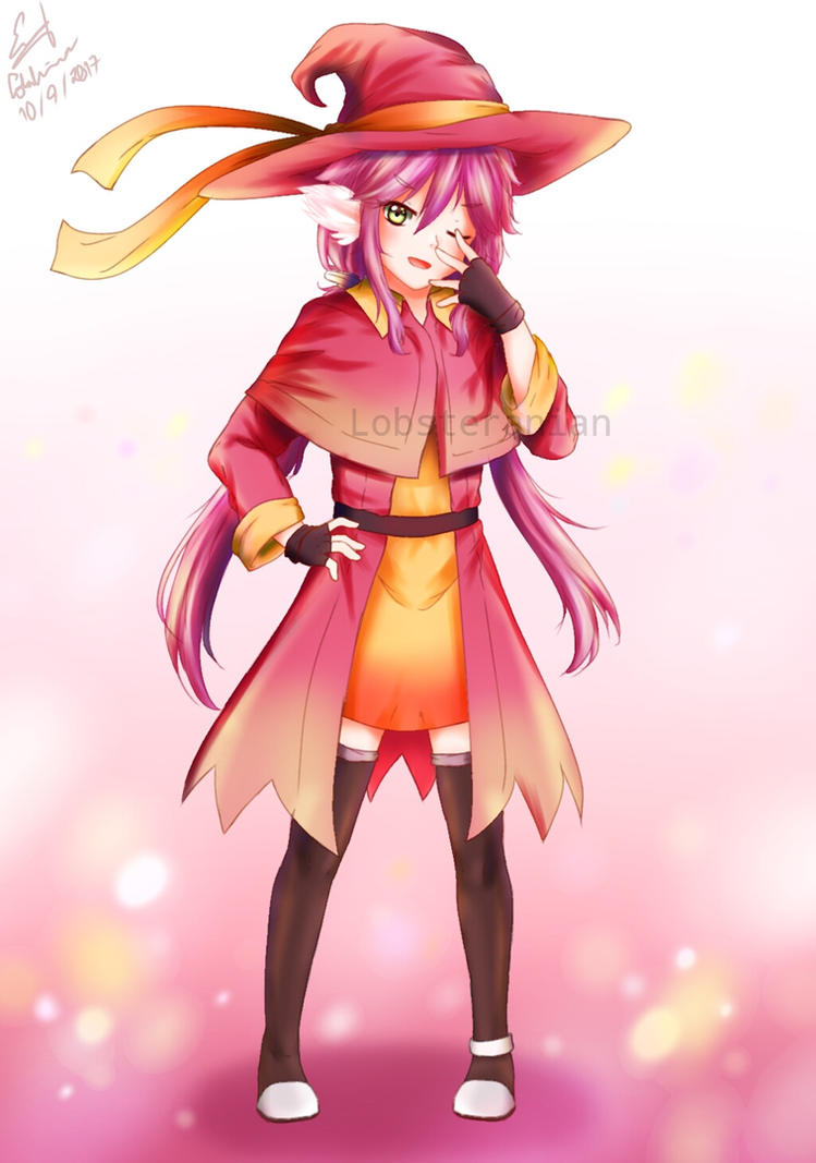 Cute mage girl by Lobsteranian on DeviantArt