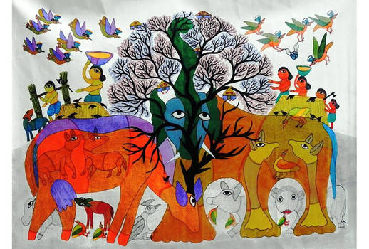 Indian Gond Art Painting