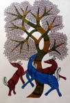 Indian Gond Bhil Art Painting
