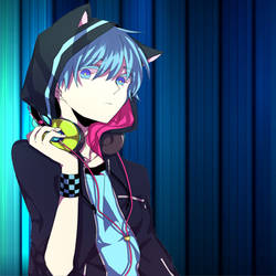 Blue Cat DJ Icon by DJ-Desert