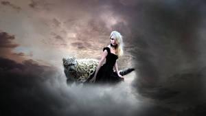 Woman with spirit animal