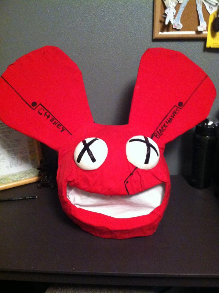 deadmau5 head 2012 halloween d by obnoxiousraccoon - Deadmau5 Halloween Head