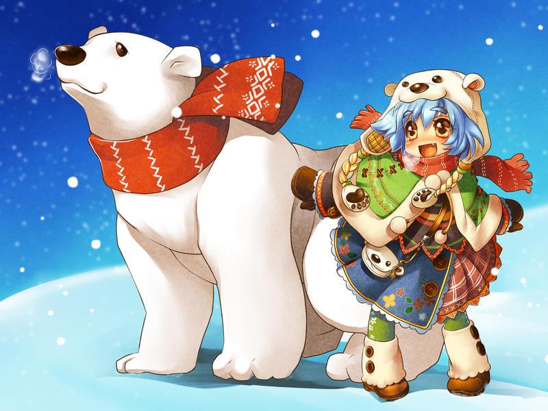 with polar bear by gimei