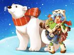 with polar bear