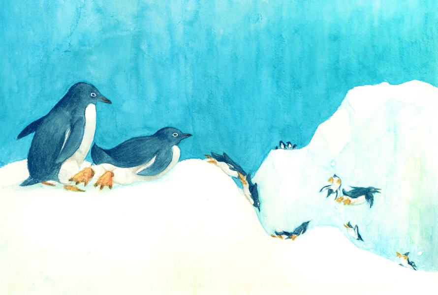 Penguin slide by gimei