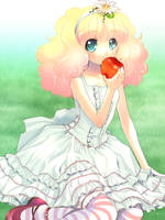 Apple and girl by gimei