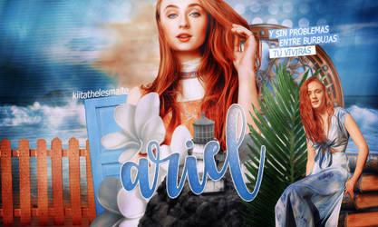 Sophie Turner as Ariel (The Little Mermaid) by kiitathelesmalte