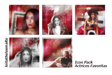 Icon Pack Actrices Favoritas by kiitathelesmalte