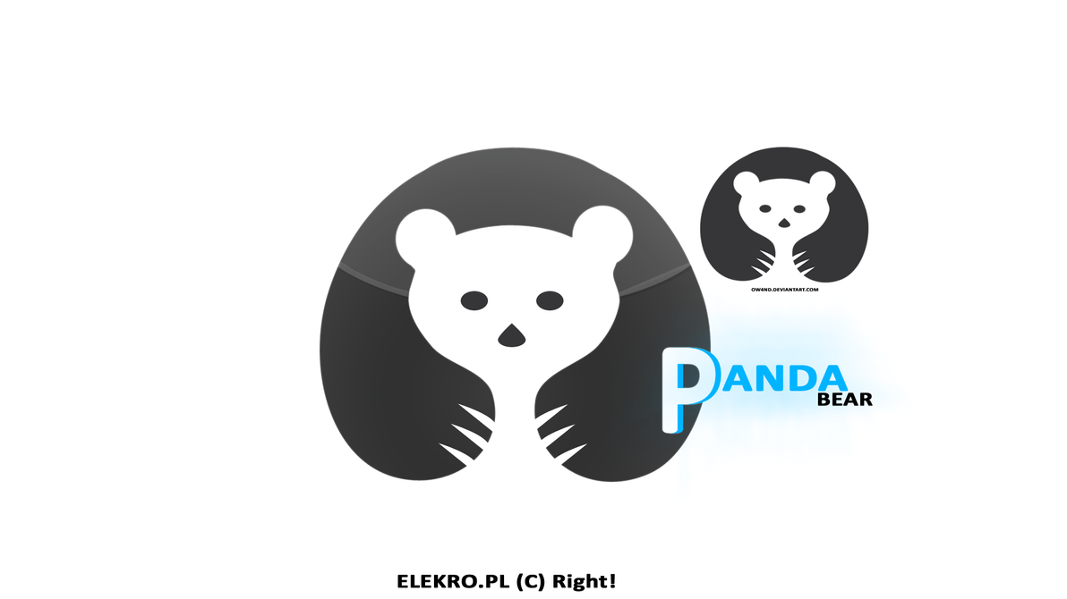 panda bear logo by ow4nd