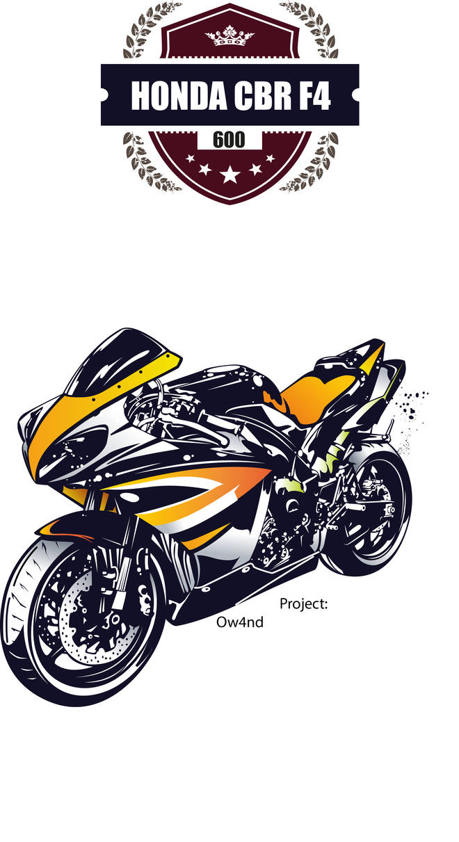 Honda Cbr 600 F4 Poster A2 Vector By Ow4nd On Deviantart