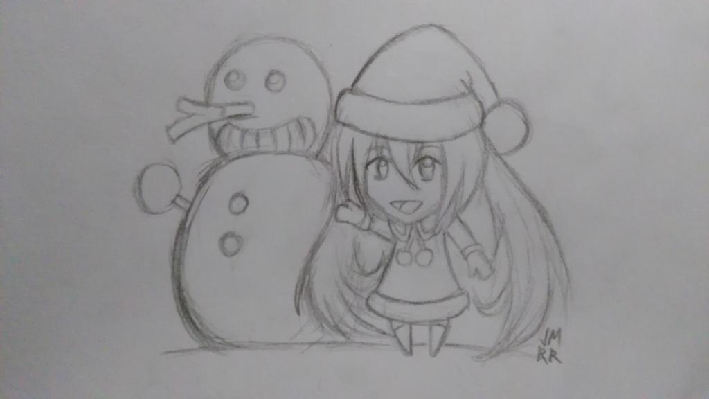 Miku Christmas (Boceto) by Kanuky