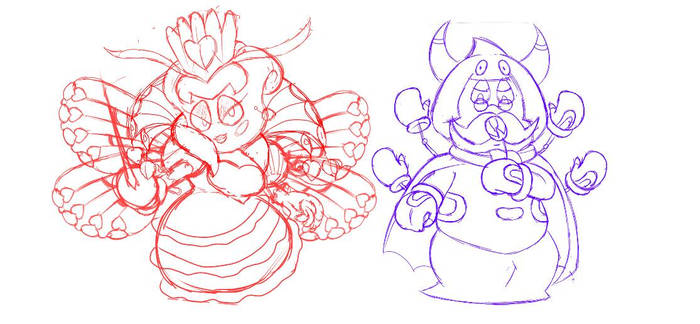 Halloween doodle: Sectomemu and Parmranza