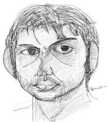 Self Portrait from mirror 8 - 06