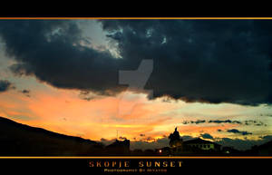 Sunset over Skopje