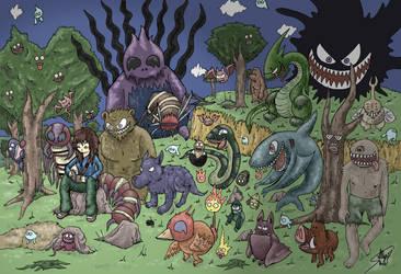 Noche de monstruos by Albsar