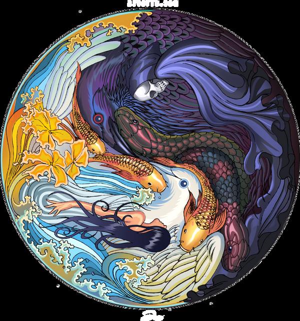 Yin Yang Clock by ArtofTu