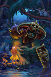Orc and Elf by ArtofTu