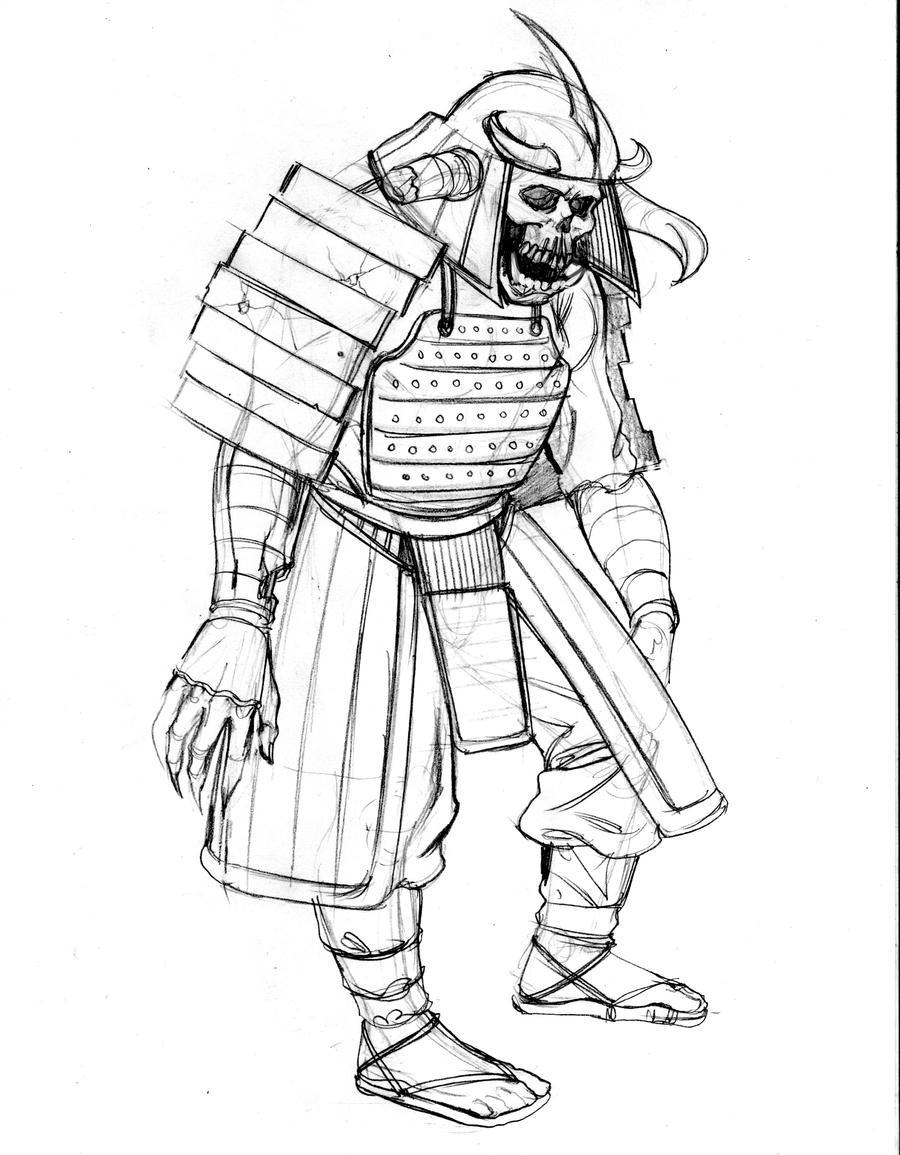 samurai zombieartoftu on deviantart