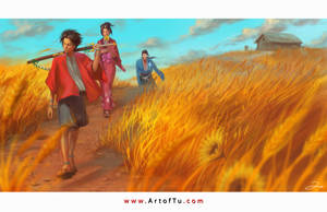 Samurai Champloo - Search for the Sunflower Samura by ArtofTu