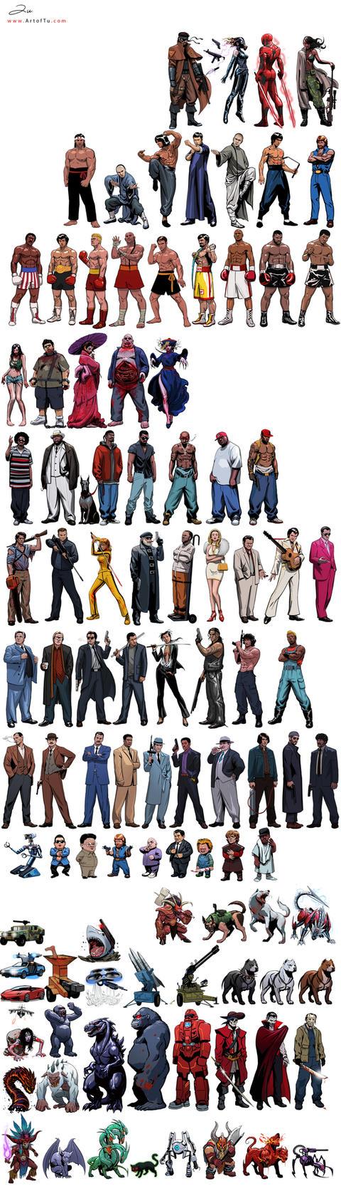 Characters by ArtofTu