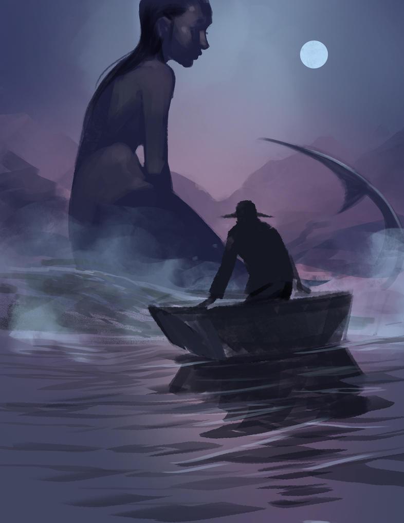 Mermaid Hunter by ArtofTu