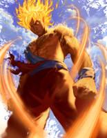 Super Saiyan Goku by ArtofTu