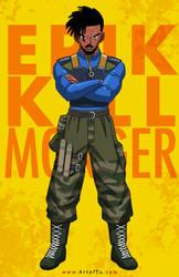 Erik Killmonger - DBZ Style by ArtofTu