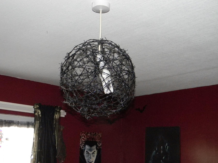 Barbed wire lampshade by turtlemyrtle on deviantart barbed wire lampshade by turtlemyrtle keyboard keysfo Choice Image