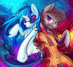 Vinyl Scratch and Octavia Melody (Hobbes-Maxwell)